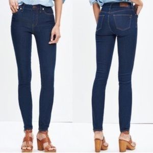 "Madewell 9"" High-Rise Skinny Jeans in Davis Wash"
